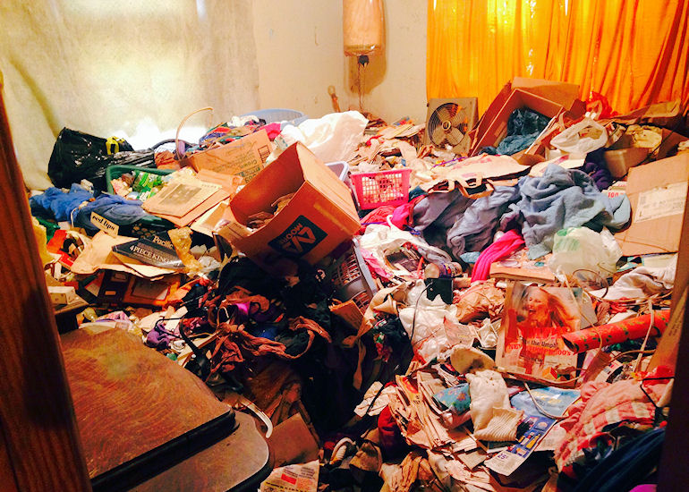 Junk Removal from Hoarder House Before